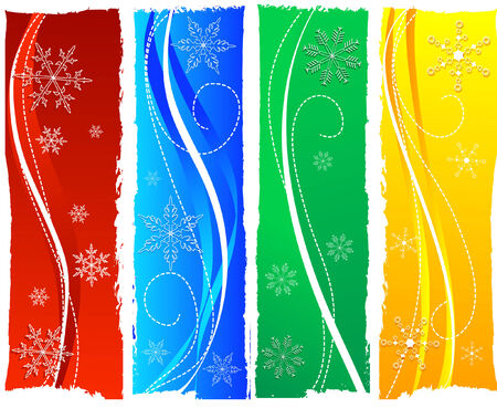 grungy colorful christmas banners Vector