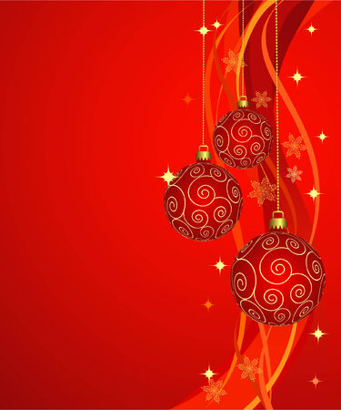 star background: beautiful christmas baubles Illustration
