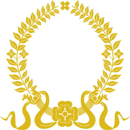 gold laurel wreath Stock Vector - 3914411