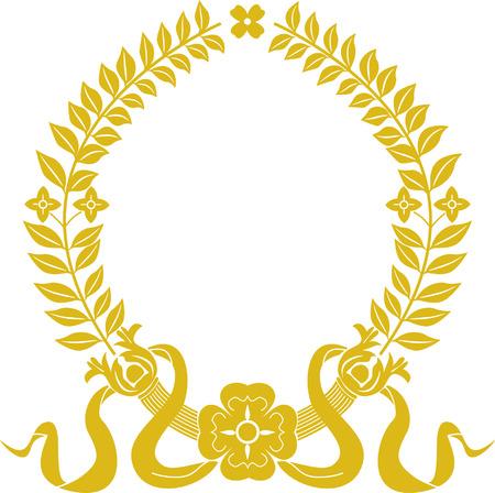 Oro corona d'alloro Archivio Fotografico - 3914411