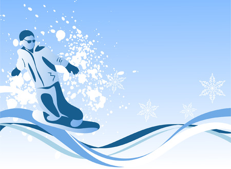 snowboarder: cool composition with a snowboarder