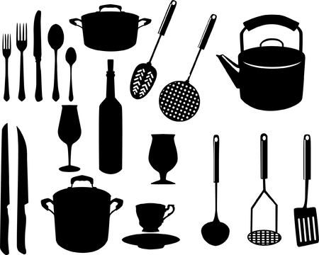 miscellaneous kitchen utensils Stock Vector - 4024063