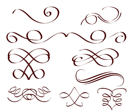 ribbon vector set: a set of decorative scrolls Illustration