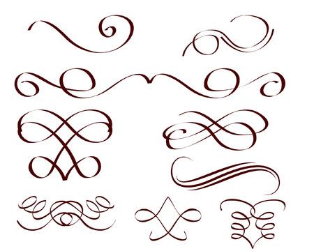 grecas: un conjunto de rollos decorativas Vectores