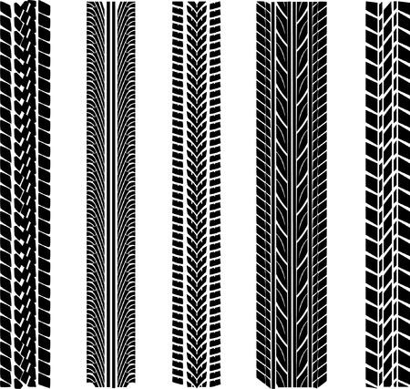 huellas de llantas: varias bandas de rodadura de los neum�ticos Vectores