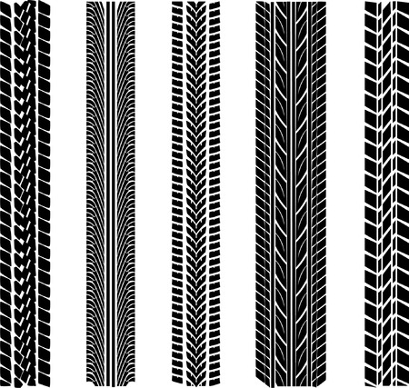 various tyre treads Stock Vector - 4139472