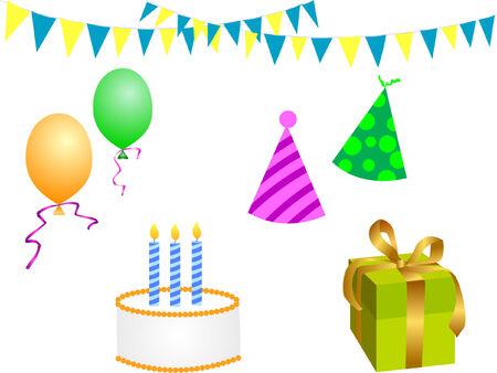 birthday party elements Stock Vector - 4139470