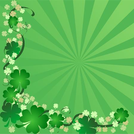 een Sint Patrick's Day achtergrond Stock Illustratie