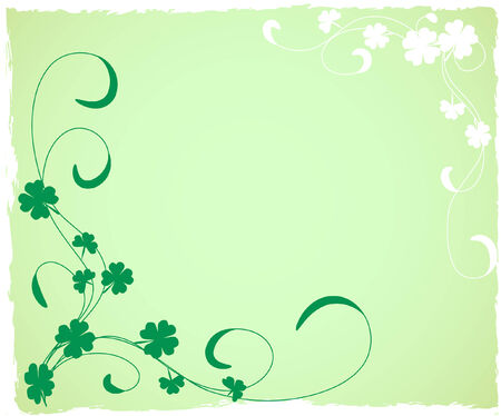 a grungy saint patrick's day background Stock Vector - 4307114