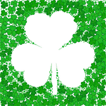 a saint patricks day illustration with space for text Vector
