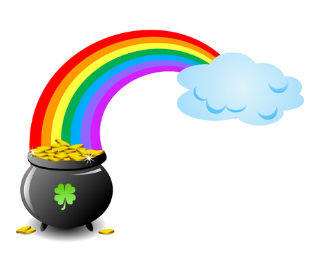 a pot of gold Vector