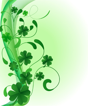 saint patricks: abstract saint patricks day illustration