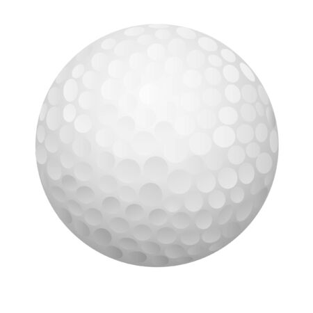 a vector illustration a golf ball Vector