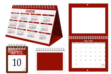 a set of calender templates Vector