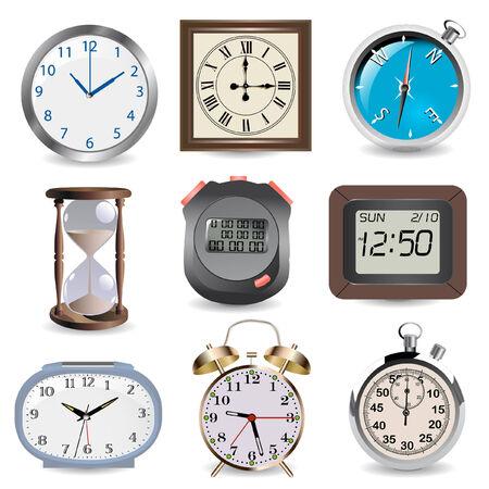 maquillaje infantil: relojes, reloj, br�jula y cron�metro en tiempo concepto