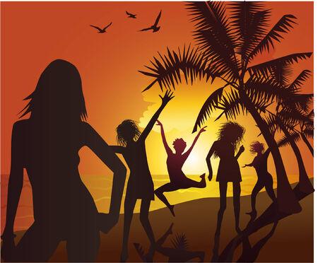 Fiesta en la playa Foto de archivo - 5222263