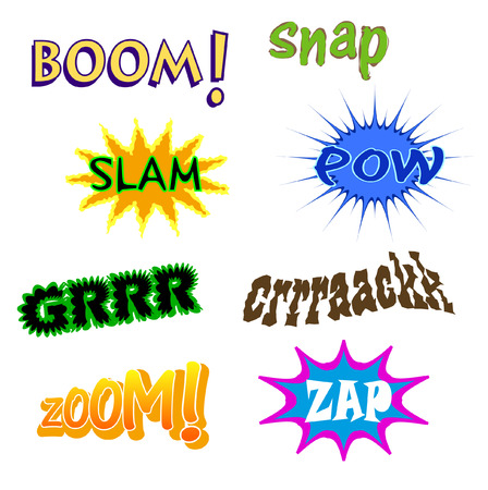 comic book expressions Stock Vector - 5285172