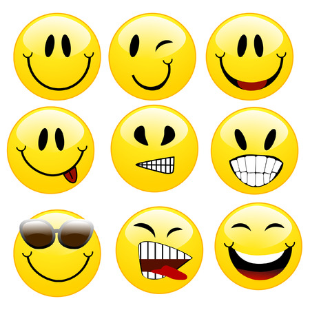 a set of smileys