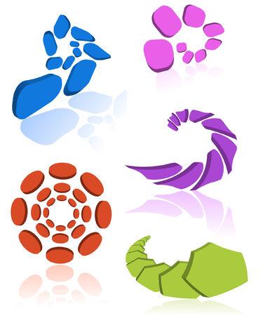 a set of 3D icons/ design elements.