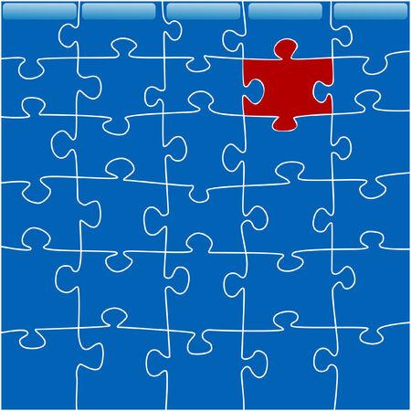 conceptual image of a zigzaw puzzle Çizim