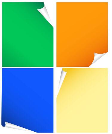 carta da lettere: carta con curling angolo quattro varianti