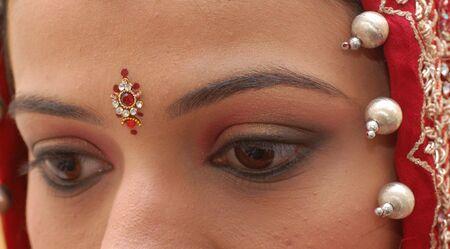 bollywood: Indian bruid  Stockfoto