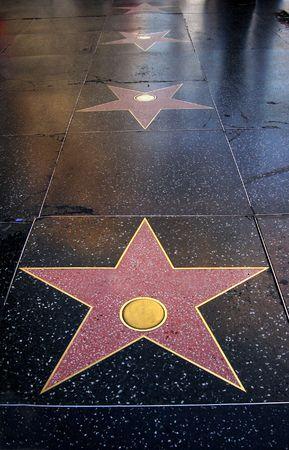 blank stars  embedded on floor                                  Stock fotó
