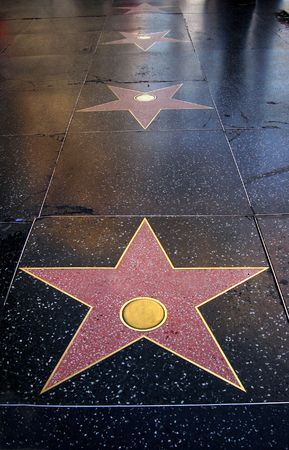 hollywood boulevard:  blank stars  embedded on floor                                  Stock Photo