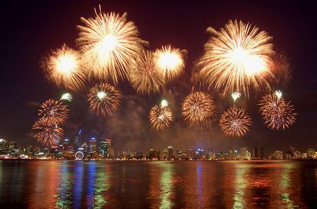 calendario diciembre: fuegos artificiales