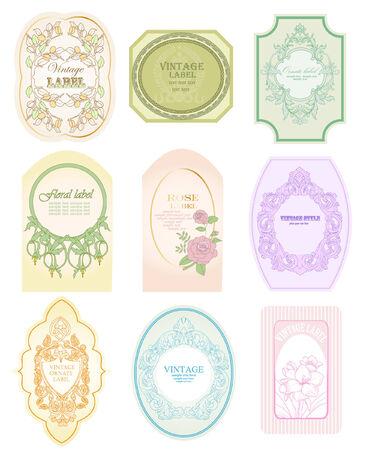 vintage labels Stock Vector - 7785207