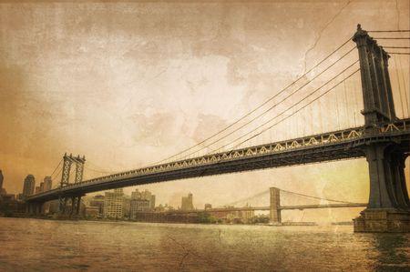 Il ponte di Brooklyn  Archivio Fotografico - 7898721