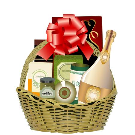 Panier cadeau Banque d'images - 8544860