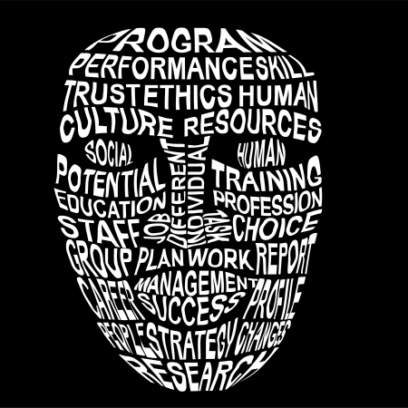 human resource management: humanity Illustration