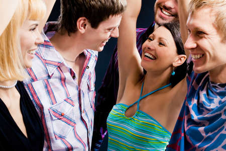 Young people have fun Stock Photo - 4162295