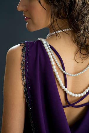 Woman in stylish dress photo