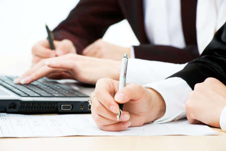Work at office. A close up Stock Photo - 4231231