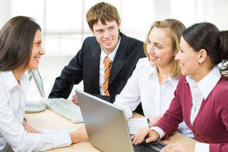 Business team discussing new plan photo