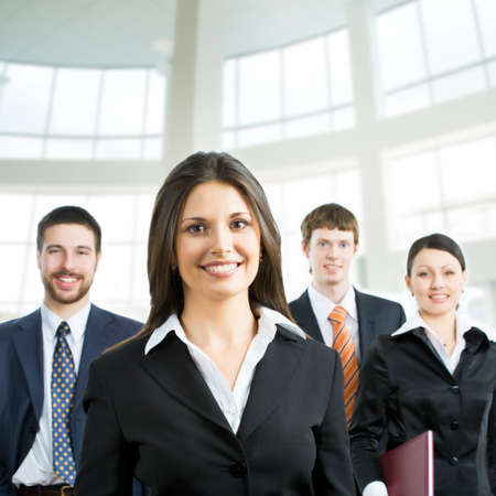 businessteam: Young and successful businessteam