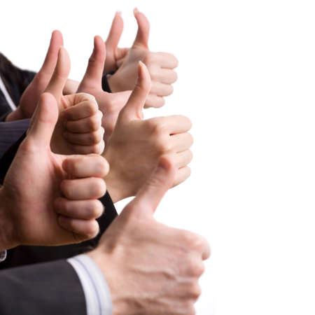 Human hands showing okay sign   photo