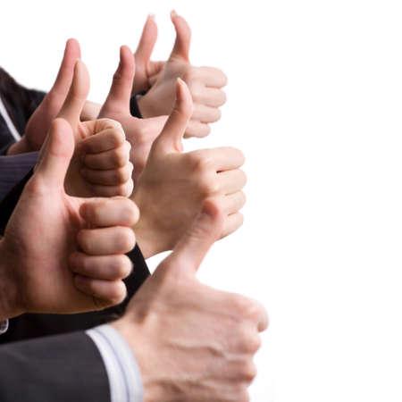 Human hands showing okay sign