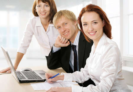 Group of people, looking at camera and smiling. Stock Photo - 4231278