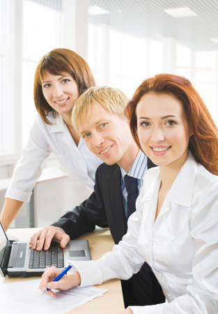 Group of people, looking at camera and smiling. Stock Photo - 4231297