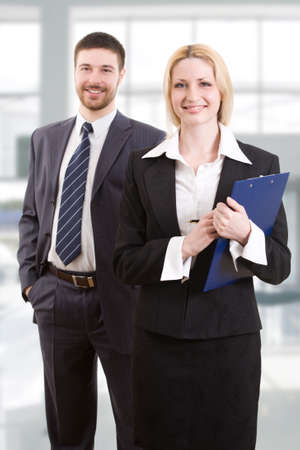 Two business people in the office Stock Photo - 4765438