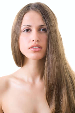 Beautiful young woman with luxuriant healthy long hair  Stock Photo - 5553955
