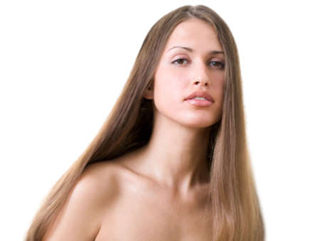 Beautiful young woman with luxuriant healthy long hair Stock Photo - 5553907