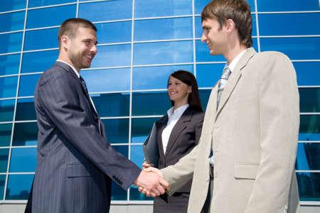 politeness: Businessmen shaking hands