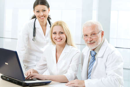 A doctor and team Stock Photo - 6666263