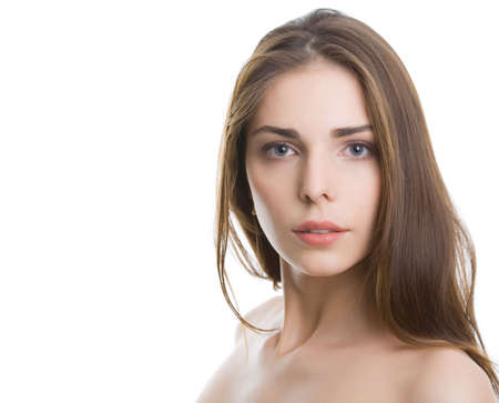 Fashion photo of beautiful nude woman with magnificent hair Stock Photo - 6698671