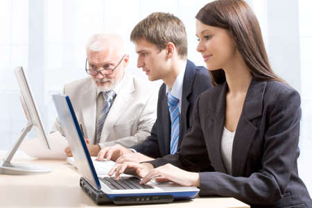 Business people working in team in the office Stock Photo - 6698708