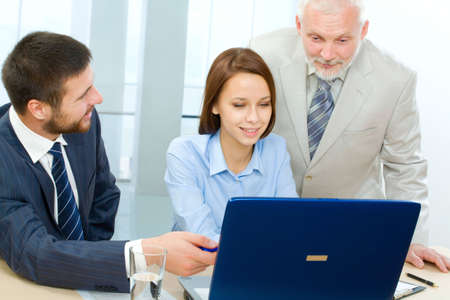 Business people working in the office Stock Photo - 6866615